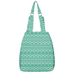 Pattern Green Center Zip Backpack