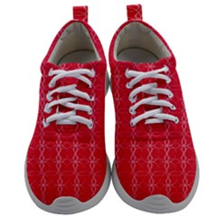 Background Texture Pattern Red Mens Athletic Shoes by AnjaniArt