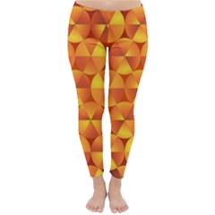 Background Triangle Circle Abstract Classic Winter Leggings
