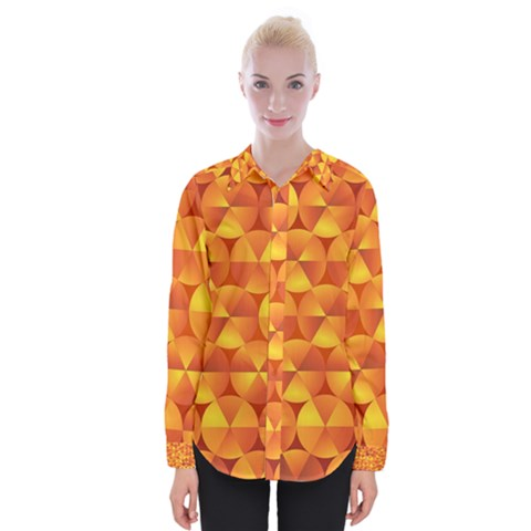 Background Triangle Circle Abstract Womens Long Sleeve Shirt by HermanTelo