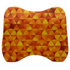 Background Triangle Circle Abstract Velour Head Support Cushion