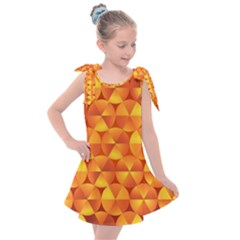 Background Triangle Circle Abstract Kids  Tie Up Tunic Dress