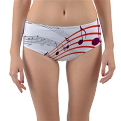 Music Notes Clef Sound Reversible Mid-waist Bikini Bottoms by HermanTelo
