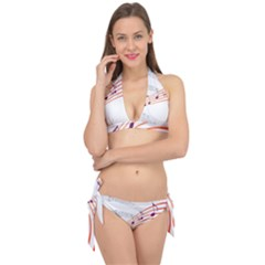 Music Notes Clef Sound Tie It Up Bikini Set
