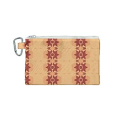 Brown Flower Canvas Cosmetic Bag (small)
