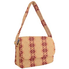 Brown Flower Courier Bag