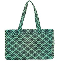 Pattern Texture Geometric Pattern Green Canvas Work Bag