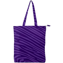 Pattern Texture Purple Double Zip Up Tote Bag