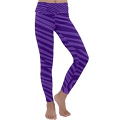 Pattern Texture Purple Kids  Lightweight Velour Classic Yoga Leggings by Mariart
