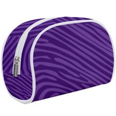 Pattern Texture Purple Makeup Case (large) by Mariart