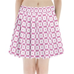 Cute Pattern Pink Background Design Pleated Mini Skirt