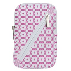 Cute Pattern Pink Background Design Belt Pouch Bag (large)