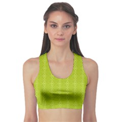 Background Texture Pattern Green Sports Bra by HermanTelo