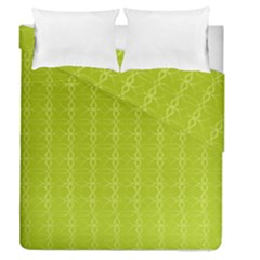 Background Texture Pattern Green Duvet Cover Double Side (queen Size)