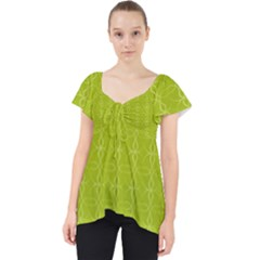 Background Texture Pattern Green Lace Front Dolly Top