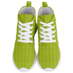 Background Texture Pattern Green Women s Lightweight High Top Sneakers