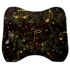 Music Clef Musical Note Background Velour Head Support Cushion