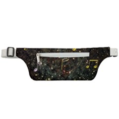 Music Clef Musical Note Background Active Waist Bag