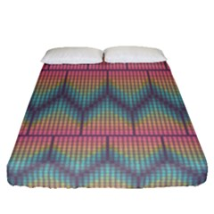 Pattern Background Texture Colorful Fitted Sheet (queen Size)