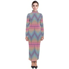 Pattern Background Texture Colorful Turtleneck Maxi Dress by HermanTelo