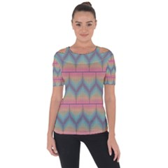 Pattern Background Texture Colorful Shoulder Cut Out Short Sleeve Top by HermanTelo