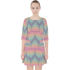 Pattern Background Texture Colorful Pocket Dress