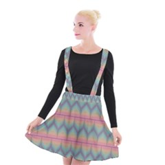 Pattern Background Texture Colorful Suspender Skater Skirt