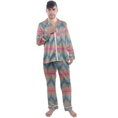 Pattern Background Texture Colorful Men s Satin Pajamas Long Pants Set