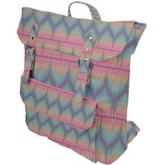 Pattern Background Texture Colorful Buckle Up Backpack by HermanTelo