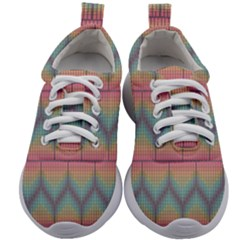 Pattern Background Texture Colorful Kids Athletic Shoes by HermanTelo