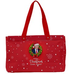 Make Christmas Great Again With Trump Face Maga Canvas Work Bag by snek