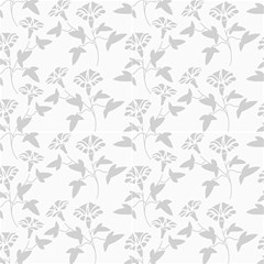 Floral Grey Fabric by TimelessDesigns