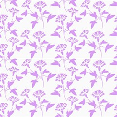 Floral Purple Fabric by TimelessDesigns