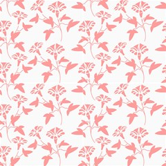 Floral Red Fabric by TimelessDesigns