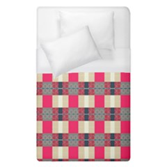 Background Texture Plaid Red Duvet Cover (single Size) by HermanTelo
