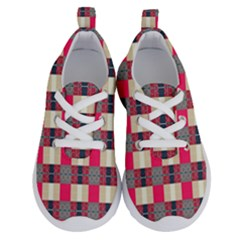 Background Texture Plaid Red Running Shoes by HermanTelo