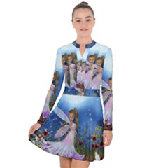 Little Fairy In The Night Long Sleeve Panel Dress by FantasyWorld7
