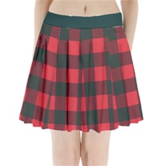 Canadian Lumberjack Red And Black Plaid Canada Pleated Mini Skirt by snek
