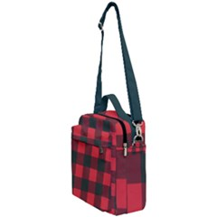 Canadian Lumberjack Red And Black Plaid Canada Crossbody Day Bag by snek