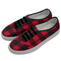 Canadian Lumberjack Red And Black Plaid Canada Men s Classic Low Top Sneakers by snek