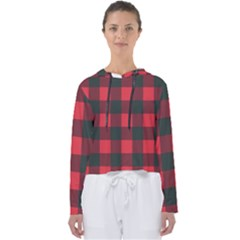Canadian Lumberjack Red And Black Plaid Canada Women s Slouchy Sweat by snek
