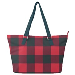 Canadian Lumberjack Red And Black Plaid Canada Full Print Shoulder Bag