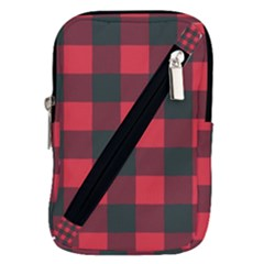 Canadian Lumberjack Red And Black Plaid Canada Belt Pouch Bag (large) by snek