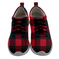 Canadian Lumberjack Red And Black Plaid Canada Women Athletic Shoes by snek