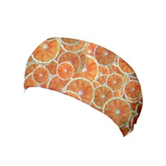 Oranges Background Texture Pattern Yoga Headband