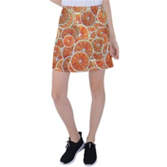 Oranges Background Texture Pattern Tennis Skirt