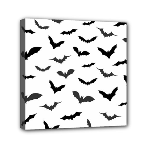 Bats Pattern Mini Canvas 6  X 6  (stretched) by Sobalvarro