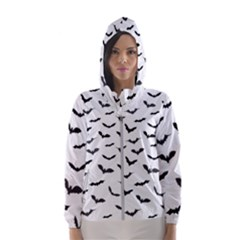 Bats Pattern Women s Hooded Windbreaker by Sobalvarro