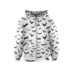 Bats Pattern Kids  Zipper Hoodie by Sobalvarro