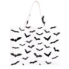Bats Pattern Zipper Large Tote Bag by Sobalvarro